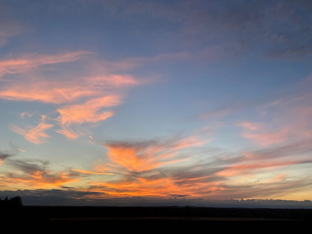 Sunset from The Old Tractor Shed - Holiday Rental