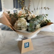 Hand tied bouquet fro,m The Flower House at Hall Farm